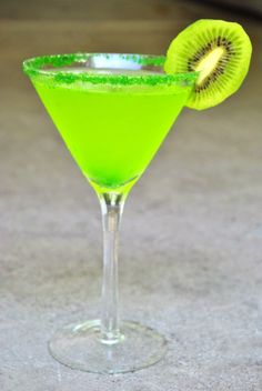 Adult Grinch Cocktail! 1 oz Pineapple Rum, 1/2 oz Midori, splash pineapple juice, double spash club soda