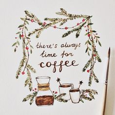 There's always time for coffee. #caffeine #coffee