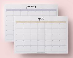2017 monthly calendar printablesToday I am finally bringing you my 2017 calendar printables! I decided to give you a lot more options than my previous version of them. I've made three different...