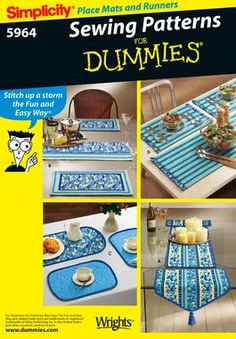 Place Mats and Table Runners easy sewing pattern 5964 Simplicity