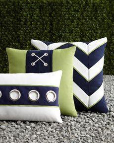 -4A9J ELAINE SMITH Navy & White Outdoor Pillows, horchow.com