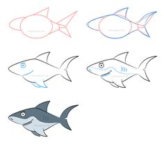How to draw a shark - Click on the illustration above to learn how to draw this character and learn a few exclusive drawing techniques not displayed in this image!
