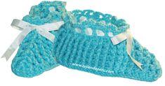 pantuflas en crochet - crochet slipers