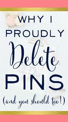 Why I Proudly Delete Pins And You Should Too Brilliant Business Moms. Affiliate Marketing, Content Marketing, Media Marketing, Marketing Technology, Business Marketing, Digital Marketing, Delete Pin, Pinterest Tutorial, Apps