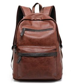 2016 New Arrival Leather Backpack Casual Bags & Travel Backpacks For Men Western College Style Oil Wax Leather School Backpack