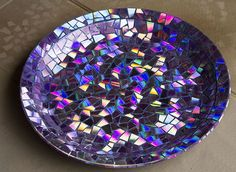 Mosaico realizado con CD reciclados #decoracion #manualidades #hogar