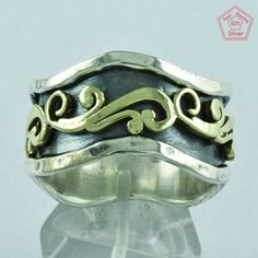 Classy Designer Look 925 Sterling Silver Beautiful Spinner Ring S.14 US R2762 #SilvexImagesIndiaPvtLtd #Spinner #AllOcassion
