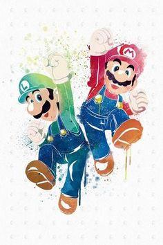 PenelopeLovePrints Mario X Luigi Poster prints 3 - Switch Nintendo - Switch Nintendo for sales - Super Mario Bros, Super Mario Party, Super Mario World, Super Nintendo, Nintendo Games, Mario E Luigi, Mario Kart, Video Game Art, Cartoon Wallpaper