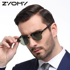 Men Women Polarized Sunglasses Semi-Rimless Retro Sun Glasses Polarized  Brand Designer Vintage Oculos a3ecdb0f9b