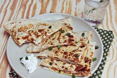 Food and Drink | Pumpkin and sweet onion quesadilla
