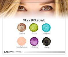 Oczy brązowe - kolory, które do nich pasują. #oczy #makijaż #kolory #cienie #oczybrazowe Makeup Tips, Beauty Makeup, Hair Beauty, Eyeshadow For Brown Eyes, Kiss Makeup, Eye Make Up, Smokey Eye, Beauty Hacks, Hairstyle