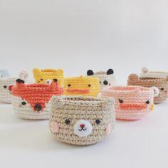 Animal mini planet 😃🐣🐰🐯🐼🐻💕 #meemanan #crochetcute #crochet #amigurumi #minibasket #handmade #