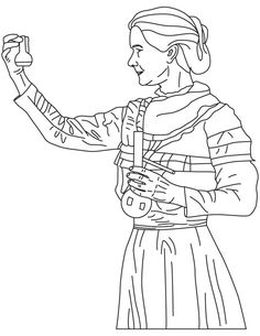 marie curie coloring pages