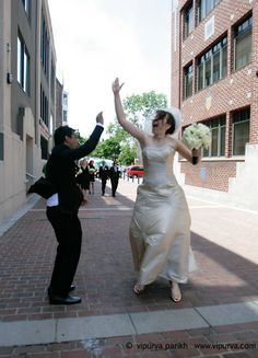 Karl Mendonca Weds Adele Ray. High fives all around!