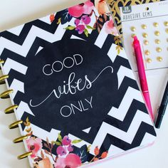 Happy Planner Cover: Good Vibes Only 10ml by HelloPrettyPlanner