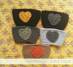 cotton fables: a crochet heart pattern - coffee cozy style