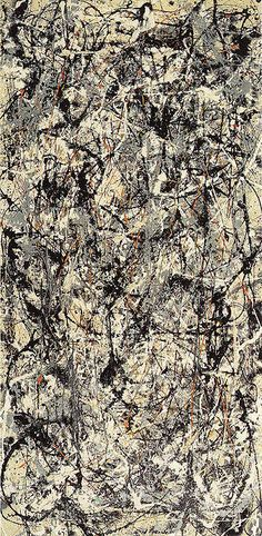 jackson pollock - art history marble painting, drip painting colour mixing, line, negative and positive space Tachisme, Action Painting, Drip Painting, Marble Painting, Jackson Pollock Art, Pollock Paintings, Oil Paintings, Lee Krasner, Oil Painting Reproductions