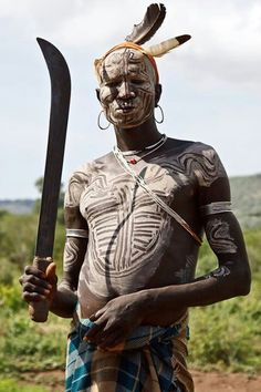 the_Mursi tribe / Omo Valley-Southern Ethiopia African Tribes, African Diaspora, African Men, African History, African Beauty, We Are The World, People Around The World, Population Du Monde, Mursi Tribe