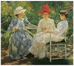 Three Sisters, A Study in June Sunlight, 1892 Edmund Charles Tarbell (1862-1938) Oil on canvas