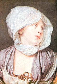 GREUZE Jean-Baptiste : Portrait de fillette