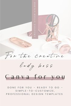 The Canva for you collections are the perfect starting point to easily create your Social Media Style. Ready to go templates for Canva that you can edit to match your brand in minutes. These done-for-you Templates save you time, keep you away from tech struggles and give you results that a pro designer can get for you!
