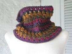 Granny Stripe Chunky Crochet Cowl Neck Warmer FREE SHIPPING £25.00