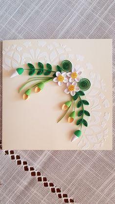 My Handmade World Quilling Birthday Cards, Paper Quilling Cards, Paper Quilling Flowers, Quilling Work, Paper Quilling Jewelry, Paper Quilling Patterns, Quilled Paper Art, Quilling Paper Craft, Quilled Roses