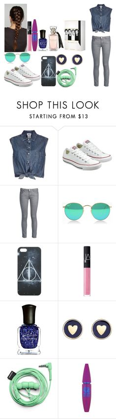 """""""Going to the park!"""" by depystyles13 ❤ liked on Polyvore featuring Jean-Paul Gaultier, Converse, George J. Love, NARS Cosmetics, Deborah Lippmann, Brooks Brothers, Urbanears and Maybelline"""