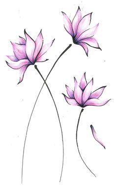 Asian Flowers by on DeviantArt Watercolor Lotus, Lotus Painting, Watercolor Beginner, Watercolor Paintings For Beginners, Fabric Painting, Watercolor Flowers, Lotus Artwork, Asian Flowers, Pencil Art Drawings