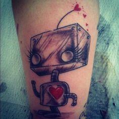 _ robot tattoo by mel wink _
