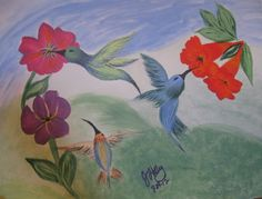 "Canvas Art by Jamie ""Birds and Blooms"""