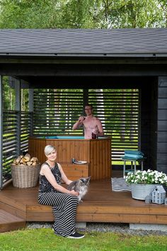Homemade Swimming Pools, Cottage Lounge, Sauna House, Dubai Miracle Garden, Outdoor Sauna, Outdoor Dining, Outdoor Decor, Garden Tub, Girl Bedroom Designs