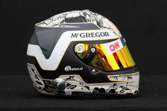 Kimi Raikkonen Photos Photos - The drivers helmet of Kimi Raikkonen of Finland and Lotus is seen during previews to the Australian Formula One Grand Prix at the Albert Park circuit on March 15, 2012 in Melbourne, Australia. - Australian F1 Grand Prix - Previews