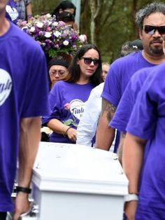 THE Maori haka was performed as the white coffin of murdered schoolgirl  Tiahleigh Palmer was carried from a Logan church today.