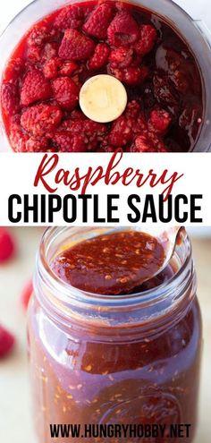 Chipotle Salsa Recipe, Raspberry Chipotle Sauce, Raspberry Recipes, Sauce Recipes, Real Food Recipes, Yummy Food, Keto Recipes, Healthy Recipes, Appetizer Recipes