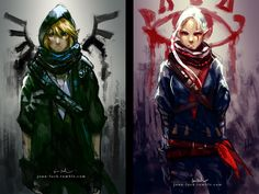 Assassin's Link Art by Jon Lock — GeekTyrant