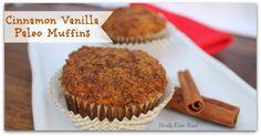 Cinnamon Paleo Muffins -Coconut flour and oil and milk, baking soda, ginger, vanilla, honey, egg, vinegar, cinnamon.