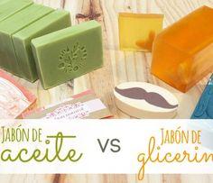 Te explicamos todas las diferencias que existen entre el jabón de glicerina y el jabón de aceite. Cuáles son sus ventajas y cuándo es mejor usarlos para hacer jabones.