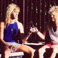 Duff Mckagan and Steven Adler. Cheers!