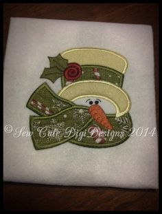 Country Holly Rose Snowman Applique Design - Instant Download EVERYTHING in this Etsy shop is ADORABLE!!