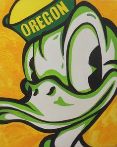 Oregon Ducks - unique and cool piece of original art