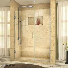 Shower Enclosures and Doors 121850: Dreamline Unidoor 58 Wide Hinged Frameless Shower Door With Clear Glass -> BUY IT NOW ONLY: $575.68 on eBay!