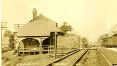 A postcard of the Childs Station, circa 1909. This is a popular postcard and a number of collectors have copies of this item.