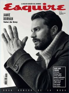 Jamie Dornan is the man of the moment as he covers Esquire España. The Irish actor connects with the magazine for a feature in its October 2018 issue. Christian Slater, Christian Grey, Raygun Magazine, Male Magazine, Jamie Dornan, David Carson, Elvis Costello, Jaden Smith, Donatella Versace