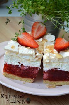 Truskawkowa chmurka - KulinarnePrzeboje.pl Cake Recipes, Snack Recipes, Cooking Recipes, Snacks, Polish Recipes, Food Cakes, Homemade Cakes, Love Cake, Baked Goods