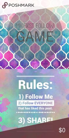 •MY FIRST FOLLOW GAME!• Please follow the rules & ENJOY ❤️ Other