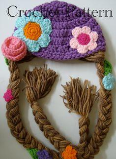 Rapunzel Hat Crochet Pattern PDF. $6.99, via Etsy.