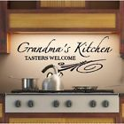 Kitchen vinyl wall saying: Grandma's kitchen, tasters welcome. Vinyl Lettering Quotes, Vinyl Wall Quotes, Vinyl Signs, Vinyl Wall Art, Wall Sayings, Sign Quotes, Wall Decals, Kitchen Wall Quotes, Kitchen Wall Art