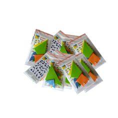 Tangram - kirakós játék - dekorgumiból extra kis csomagolásban, születésnapi party ajándék, mikulás ajándék