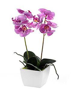 Mini Artificial orquídea en maceta, color rosa